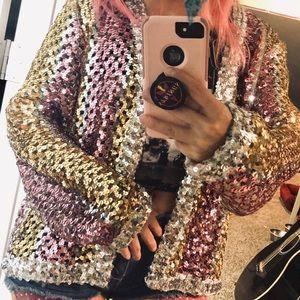Amazing Vintage sequin Cardigan sweater